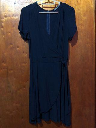 Zalora dark blue dress