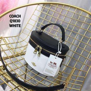 📣📣Raya Sale🌹🌹🌹 Coach Box Bag (whiteblue)