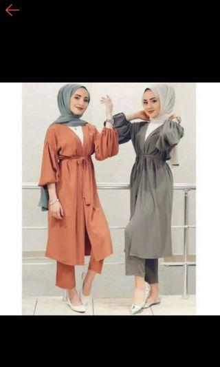 Turki Set Long outer + Pants
