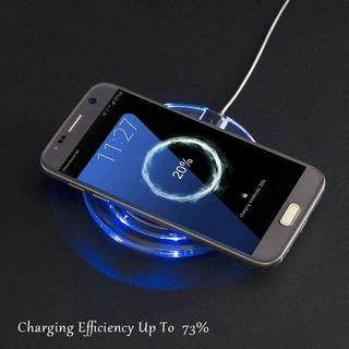 🚚 Qi Crystal Wireless Charger Power Charging Pad for iPhone Samsung
