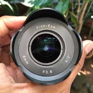 Lensa Fish Eye Fujian CCTV 8mm for Olympus Panasonic Mirorrless