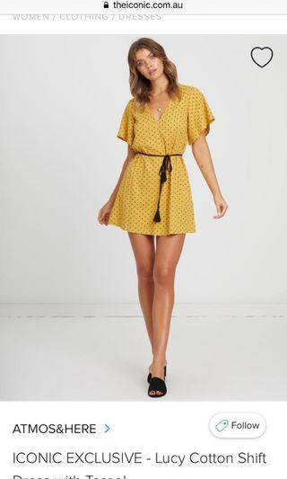 Lucy Cotton Shift Dress with Tassel