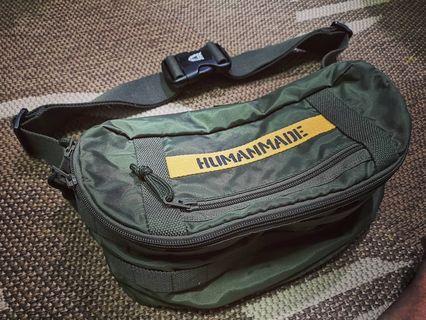 Human Made Military Waist Bag - Olive Darb HM14GD018