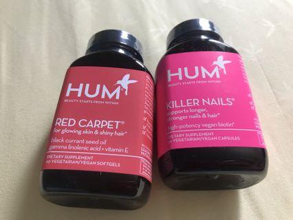 HUM NUTRITION - Red Carpet Skin and Hair Health Supplement