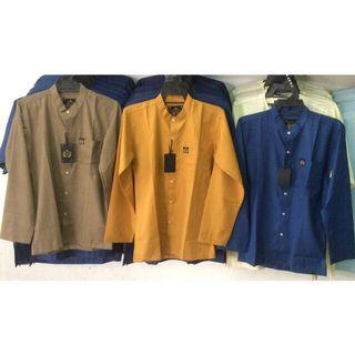 Modern Kurta rehan long sleeves cotton cekak musang