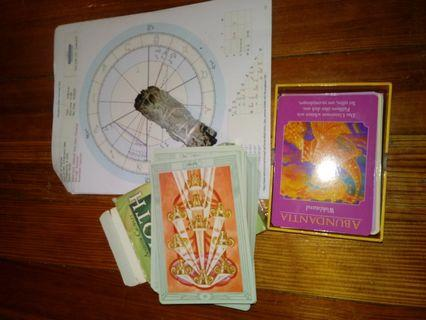 Zodiac astrological tarot and oracle readings
