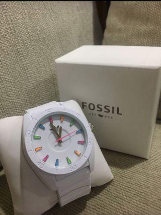 🚚 Adidas 矽膠錶帶白色手錶