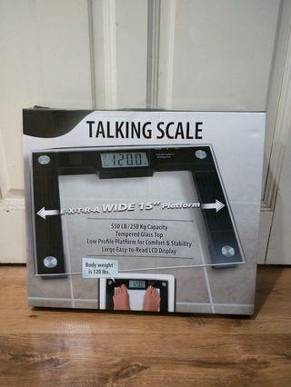 "Talking scale- Extra wide 15"" platform"