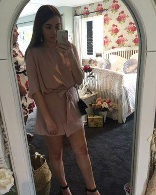Pink playsuit! Size 10