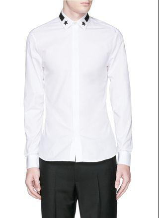 GIVENCHY SHIRT COLLAR STAR AUTHENTIC