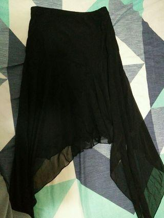 🚚 設計款垂墬感雪紡長裙