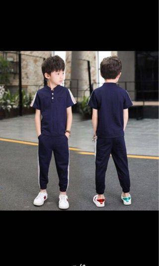 🚚 藍色-中大童休閒套裝(25號)