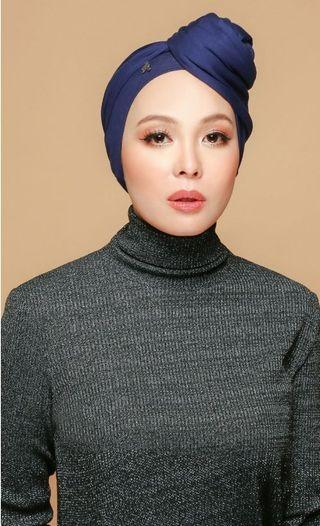 Duck Turban in Navy