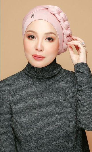 Duck Turban in Dusty Pink