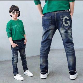 🚚 新款字母G深色牛仔褲(19號)