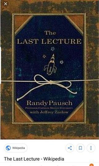 🚚 The last lecture by Randy Pausch
