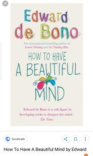 🚚 How to have a beautiful mind by Edward de Bono