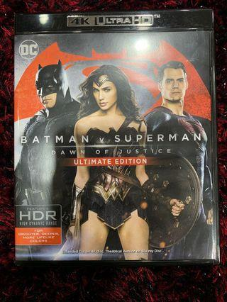 🚚 4K UHD Batman vs Superman Dawn of Justice ULTIMATE EDITION