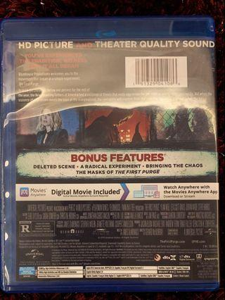 🚚 The First Purge Blu ray (A Nation reborn)
