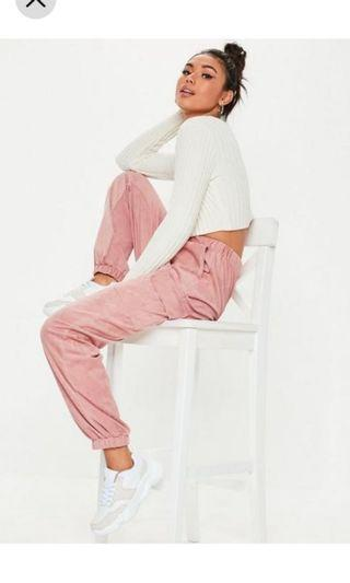 Pink Track Cargo pants Missguided