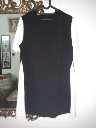 Dress Midi White Black