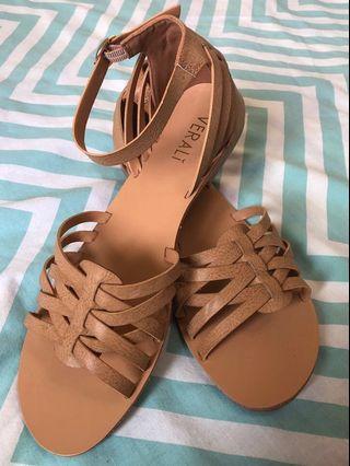 Verali Tan Sandals - Size 39 / 8AUS