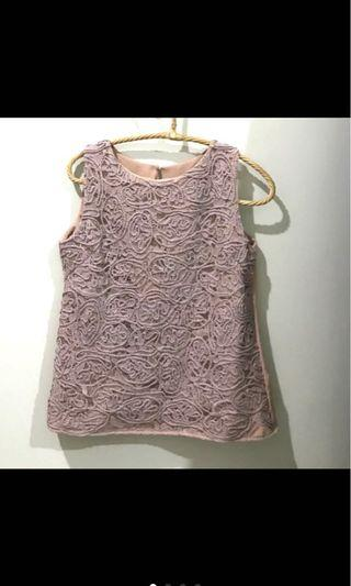 Pink lace Tank Top