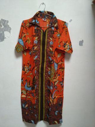 Dress Batik Orange #ramadansale