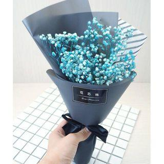 乾燥花 快閃特價乾燥花  滿天星乾燥花束 情人節禮物花束畢業花束禮物 韓式花束 藍色