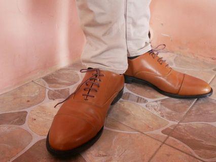 Sepatu Pantofel Cokelat size 42
