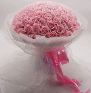 99 Roses Bouquet - Available in Red & Pink / Soap or Fresh Roses / 19, 33 or 99 Roses