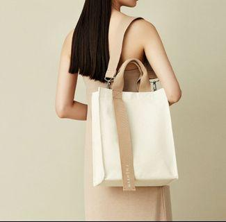(Po sales ends 12 June) Authentic Marhen J Ricky Neutral Canvas Bag NWT