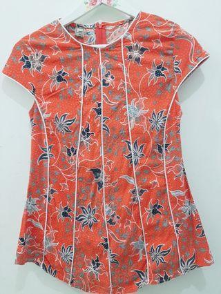 Blouse Batik in Orange
