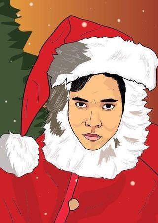 Graphic Portrait/Christmas Gift