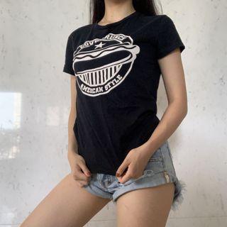 ZARA黑色美式T恤