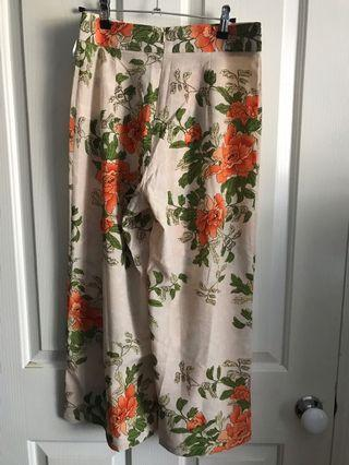 PLT Cream Floral Culotte Size 12