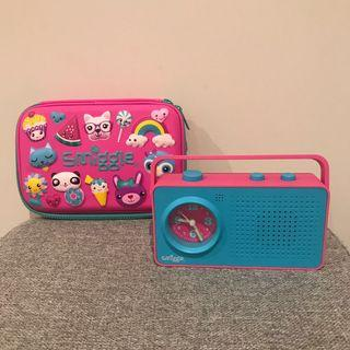 Smiggle Pencil Case and Retro Clock
