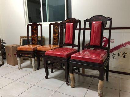 越南製漆器椅4只一組