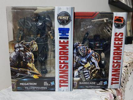 Transformers Movie Premier Edition Megatron + Barricade MISB