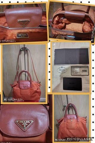 Preloved Authentic PRADA Tessuto Shopping Bag with strap