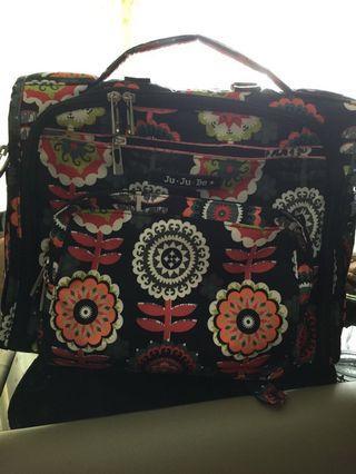 Jujube Dancing Dahlias Diaper Bag