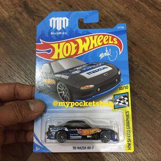Hot Wheels '95 MAZDA RX-7 (Mad Mike / HW Speed Graphics)