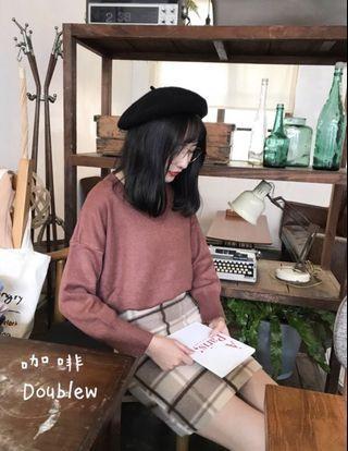🚚 韓國🇰🇷V領毛衣 🉑️拉一字領