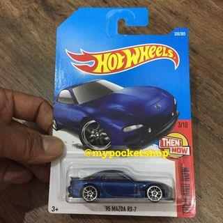 Hot Wheels '95 MAZDA RX-7 (Blue / Then and Now)