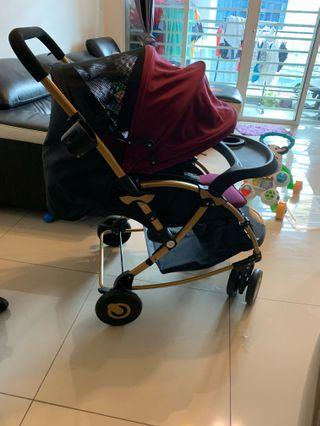 Stroller for baby 0 to 3 years old for sale, can fold to be swing, can facing baby