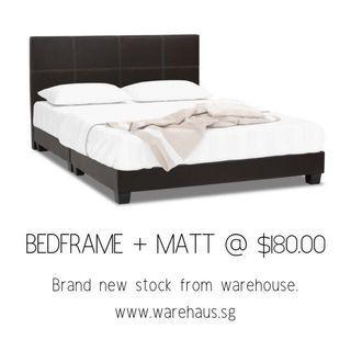 Brand New Queen Size Bedframe and Foam Mattress Bed Set