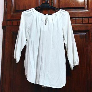 Uniqlo White Blouse