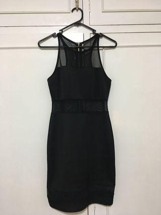 Black Mesh Dress Size S
