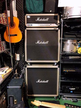 Marshall Jubilee 2555 JCM 25/50 Head with Angled and Base 4x12 Cabinets in Excellent Condition