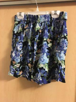 Floral blue skirt (s)
